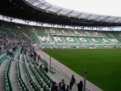 Niektórzy woleli posiedzieć na stadionie