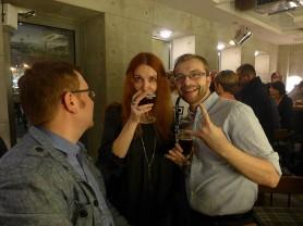 Ela Lucińska-Fałat i Adrian, wierny czytelnik piwnej blogosfery