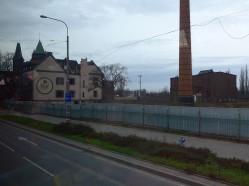 O, kierowca specjalnie zmienił trasę aby pokazać nam resztki wrocławskiego browaru Piast