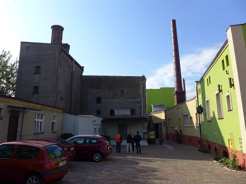 Reaktywowany browar 1 Theodora Grunberga - widok od ul. Poznańskiej