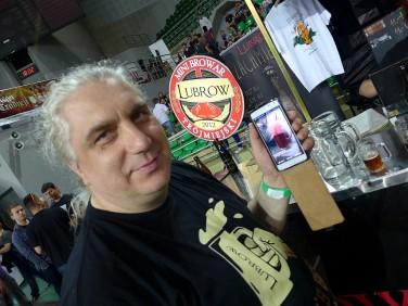 Tomasz Lubocki i piwo z dodatkiem czerwonego buraka