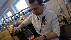 Michał leje wiśniowe Berliner Weisse z Alderaan Brewery