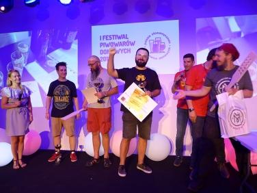 Najlepsze piwo festiwalu: 1. Dominik Połeć 2. Piotr Brzeziński 3. Jan Gadomski