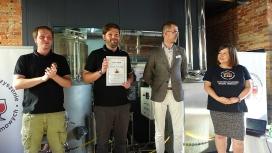 Dyplom uznaniowy dla Mateusza Puśleckiego